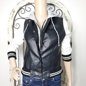 Rue 21 vegan leather jacket small